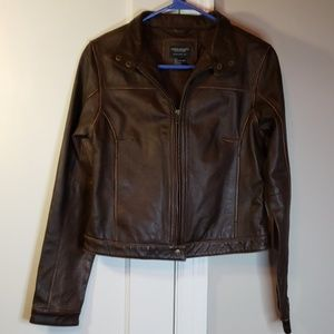 American Eagle Genuine Leather Moto Jacket
